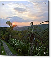 Sunsetting Over Costa Rica Acrylic Print