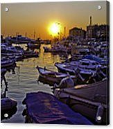 Sunsetting Over Rovinj 2 Acrylic Print