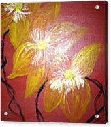 Sunshine Flowers Acrylic Print by Pretchill Smith