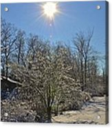 Sunshine In The Snow Acrylic Print