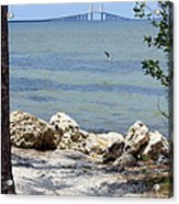 Sunshine Skyway From The Causeway Acrylic Print