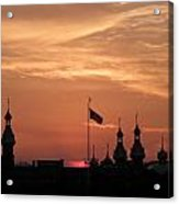 Sunst Over The University Of Tampa Acrylic Print