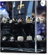 Super Bowl Rings  Acrylic Print
