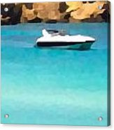 Superhawk And Sea Acrylic Print