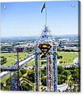 Superman And Dallas Acrylic Print by Malania Hammer