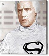 Superman, Marlon Brando, 1978 Acrylic Print