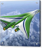 Supersonic Aircraft Design Acrylic Print