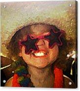Superstar Acrylic Print by Gina Barkley