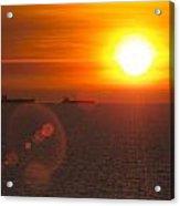 Supertanker Sunset Acrylic Print