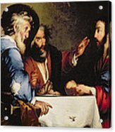 Supper At Emmaus Acrylic Print by Bernardo Strozzi