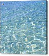 Surface Of Water At Sezoko-island Beach Acrylic Print