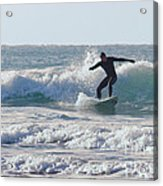 Surfing The Atlantic Acrylic Print by Brian Roscorla