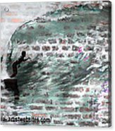 Surfing The Wall Acrylic Print by RJ Aguilar