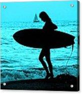 Surfs Up Blue Acrylic Print