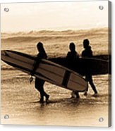 Surfs Up Sephia Acrylic Print