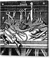 Surgical Equipment, 16th Century Acrylic Print