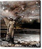 Surreal Fantasy Celestial Angel With Stars Acrylic Print