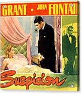 Suspicion, Joan Fontaine, Cary Grant Acrylic Print by Everett