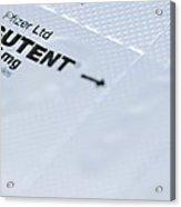 Sutent Chemotherapy Drug Acrylic Print