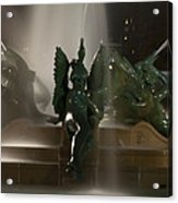 Swann Fountain At Night Acrylic Print