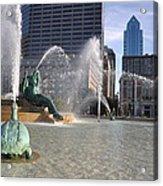 Swann Memorial Fountain In Philadelphia Acrylic Print