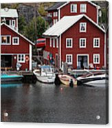 Swedish Fishing Village Acrylic Print
