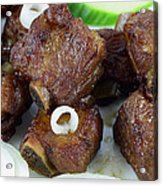 Sweet And Sour Ribs Chinese Food  Acrylic Print by Paul Ge