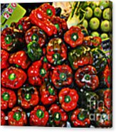 Sweet Red Peppers Acrylic Print