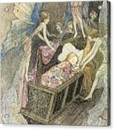 Sweetly Singing Round About They Bed Acrylic Print by Warwick Goble