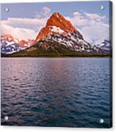 Swiftcurrent Lake At Dawn Acrylic Print