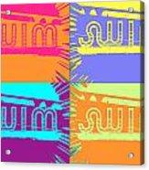 Swim Acrylic Print by Amber Hennessey
