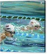Swimmers Acrylic Print by Paul Mitchell