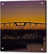 Swing Bridge Sunset Acrylic Print