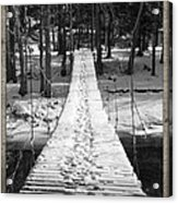 Swinging Cable Foot Bridge Acrylic Print