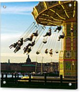 Swings At Sunset Acrylic Print
