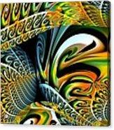 Swirling Colors Acrylic Print