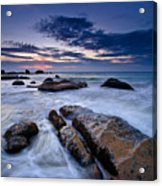 Swirly Wave At Sunrise In Co Thach Beach Acrylic Print
