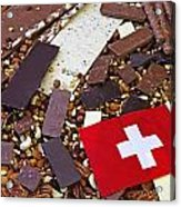 Swiss Chocolate Acrylic Print by Joana Kruse