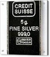 Swiss Silver Bar Acrylic Print