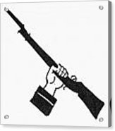 Symbol: Raised Gun Acrylic Print
