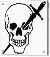 Symbol: Skull & Dagger Acrylic Print