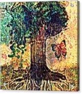 Symbolically Solid Tree Acrylic Print by Paulo Zerbato