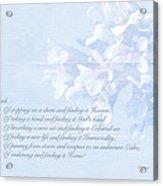 Sympathy Greeting Card - Hairy Bittercress Wildflower Acrylic Print