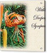 Sympathy Greeting Card - Wildflower Turk's Cap Lily Acrylic Print