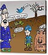 Syria Is Mordor Acrylic Print