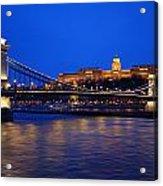 Szechenyi Bridge In Budapest Acrylic Print