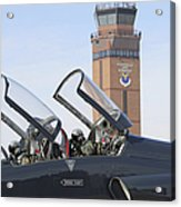 T-38 Talon Pilots Make Their Final Acrylic Print by Stocktrek Images