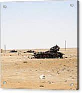 T-55 Tanks Destroyed By Nato Forces Acrylic Print