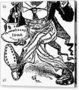 T. Roosevelt Cartoon, 1903 Acrylic Print