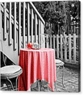 Table And Chairs Acrylic Print by Frank Nicolato